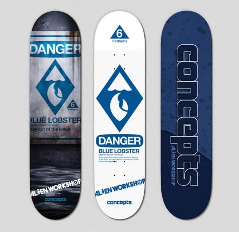 """Concepts x Alien Workshop """"Blue Lobster"""" Skate Decks"""