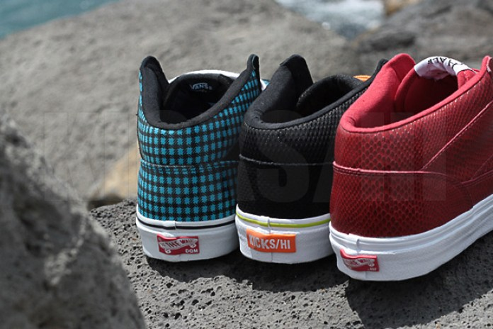 "DQM / HUF / KICKS|HI x Vans ""3 Feet High"" Half-Cab Styling Shots"