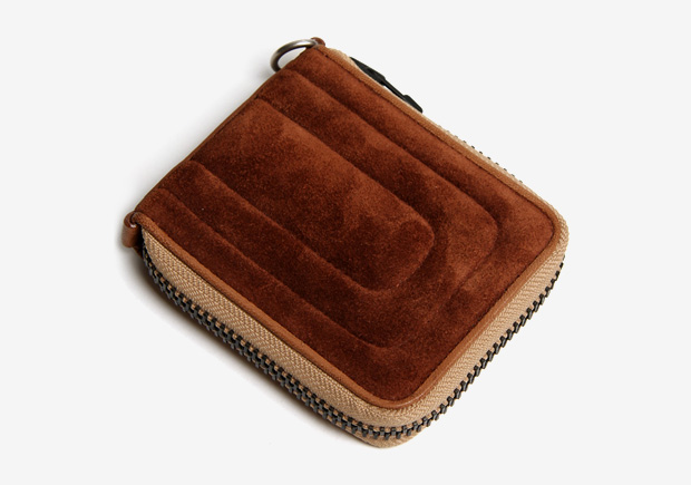 hobo Camel Suede Zip Wallet