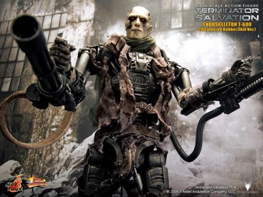 Hot Toys Terminator Endoskeleton T-600 Weathered Rubber Skin Version Figure