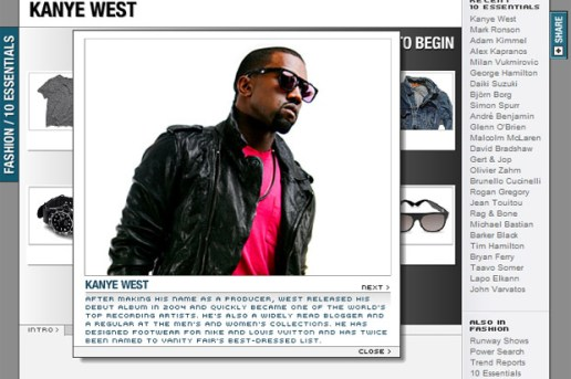 MEN.STYLE.com 10 Essentials Kanye West