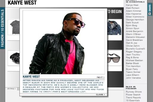 MEN.STYLE.com 10 Essentials Kanye West