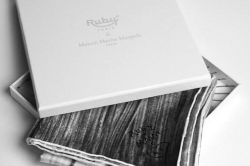 Maison Martin Margiela for Les Ateliers Ruby Helmet Twill Silk Scarf