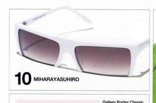 """MIHARA YASUHIRO """"Half"""" Sunglasses"""