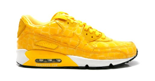 Nike Air Max 90 Yellow Croc Skin Sneakers