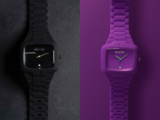 Nixon Black & Purple Rubber Player Watches