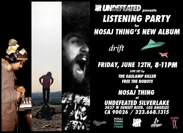 NOSAJ THING Listening Party @ Undefeated Silverlake