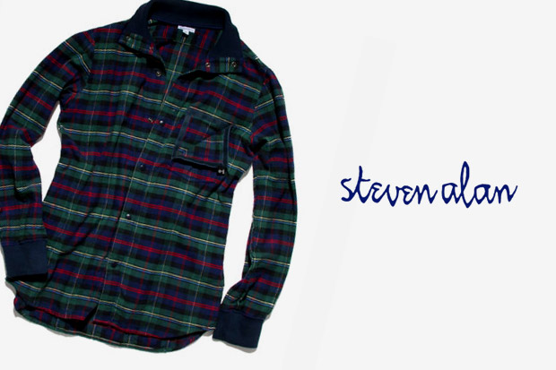Steven Alan x Chari & Co. Flannel Riding Shirt