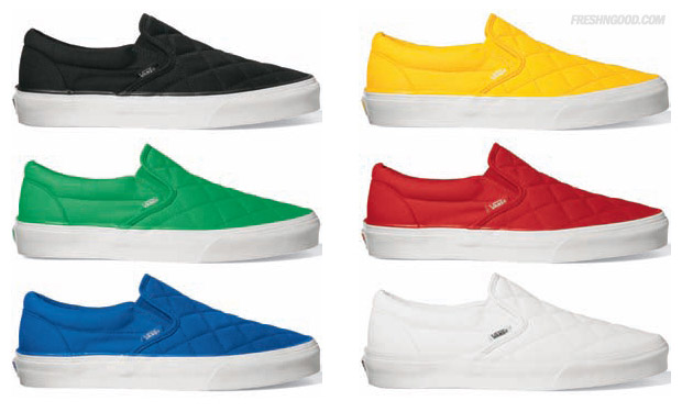 Vans 2009 Fall Quilted Slip-On Pack