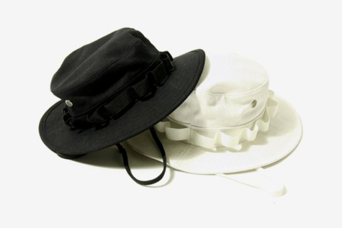 White Mountaineering Herringbone Bush Hat