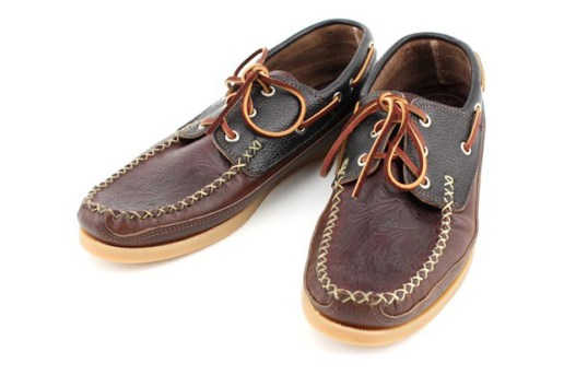 Yuketen Embossed Boat Shoe