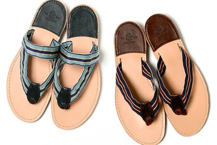 Yuketen Leather Flip-Flop Sandals