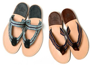 Yuketen Leather Flip-Flop Sandals