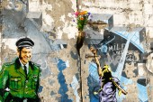 "ABOVE ""Bridge the Divide"" Berlin Wall 20th Anniversary"