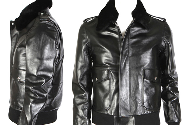 Balmain 2009 Fall Leather + Fur Neck Jacket