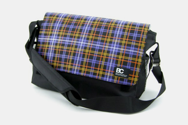 BASE CONTROL Plaid Messenger Bag & Backpack