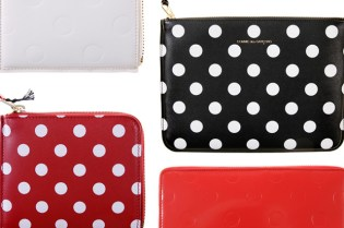 COMME des GARCONS Polka Dot & Debossed Dot Wallet Collection
