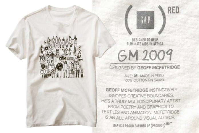 Geoff McFetridge for GAP (PRODUCT) RED mantra T