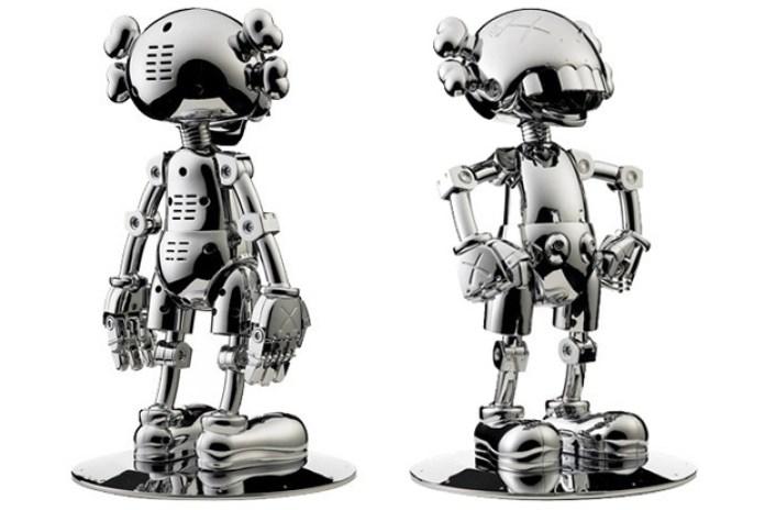 Hajime Sorayama x OriginalFake KAWS No Future Companion Silver