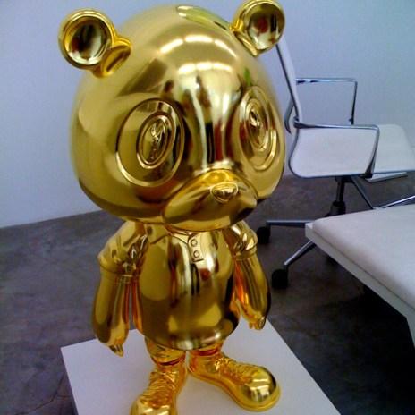 Kanye West x Takashi Murakami Gold Bear Sculpture