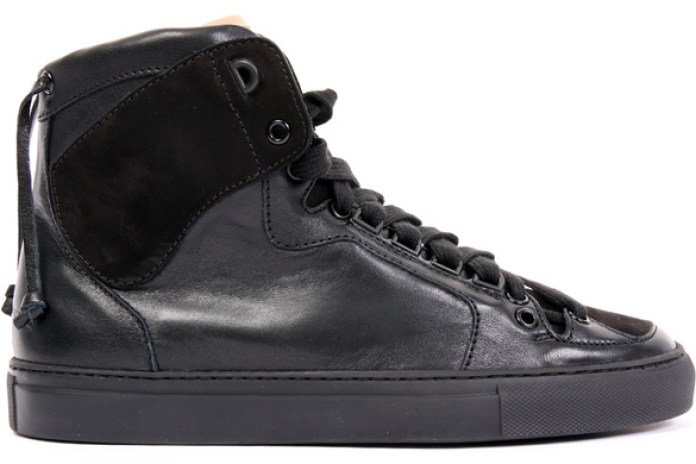 Kris Van Assche Black Tonal High Top Sneakers