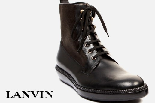 Lanvin Suede and Leather Boots