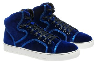 Lanvin Velvet High-Top Trainer