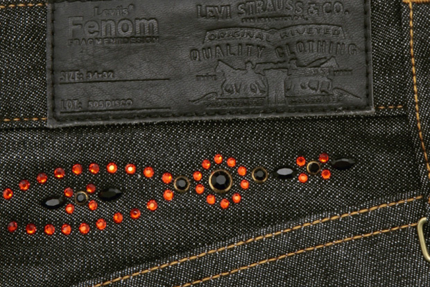 Levi's Fenom Ruby Disco Light oz Black Denim