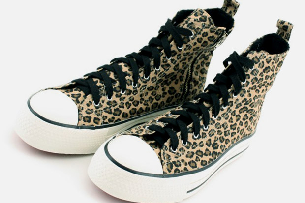 Monkey Time Leopard Print Zip Hi