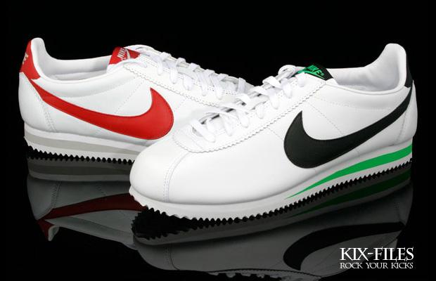 Nike Sportswear Classic Cortez Leather Green Spark & Varsity Red