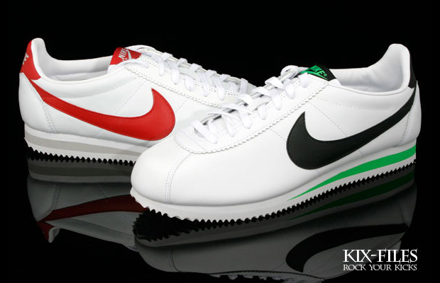 Nike Sportswear Classic Cortez Leather Green Spark & Varsity Red