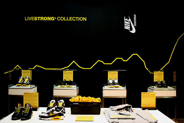 Nike Sportswear LIVESTRONG Installation at Qubic