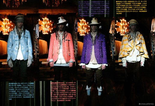 """Number (N)ine 2009 Fall/Winter """"Last Songs"""" Collection"""