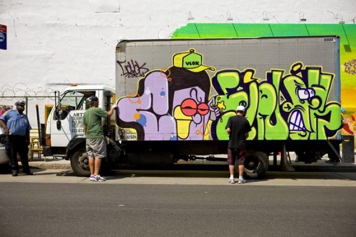 Os Gemeos x Coyo x Finok x Ise Graffiti Truck Art