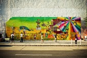 Os Gemeos Mural NYC: Completed