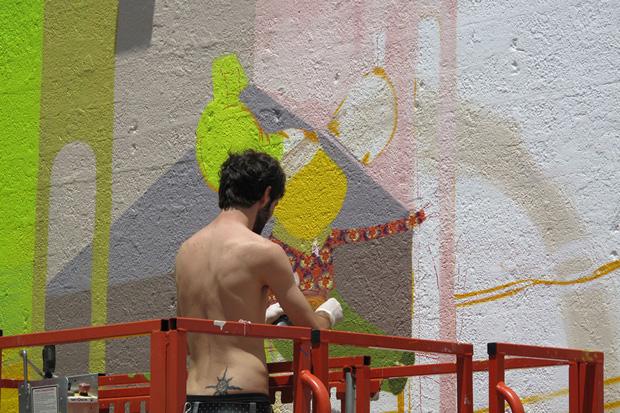 Os Gemeos Mural NYC: Work in Progress