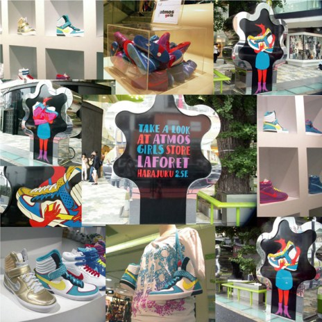 Parra x atmos girls Lafloret x Nike Sportswear Installation