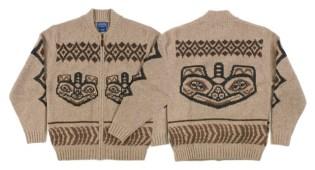 Pendleton Totem Bear Zip Cardigan
