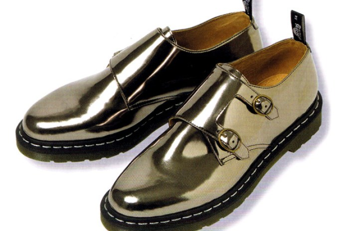 Raf Simons x Dr. Martens Metallic Monk Strap Shoes