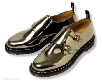 Raf Simons x Dr. Martens Metallic Monk Strap Shoes