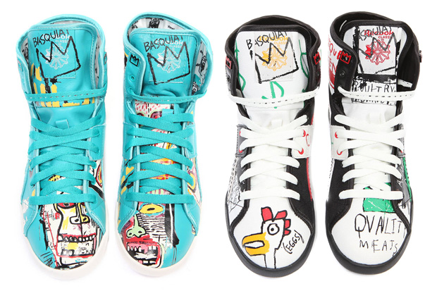"Reebok ""Basquiat"" Top Down Sneakers"