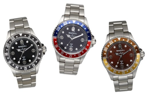 A Bathing Ape Bapex Watch Collection