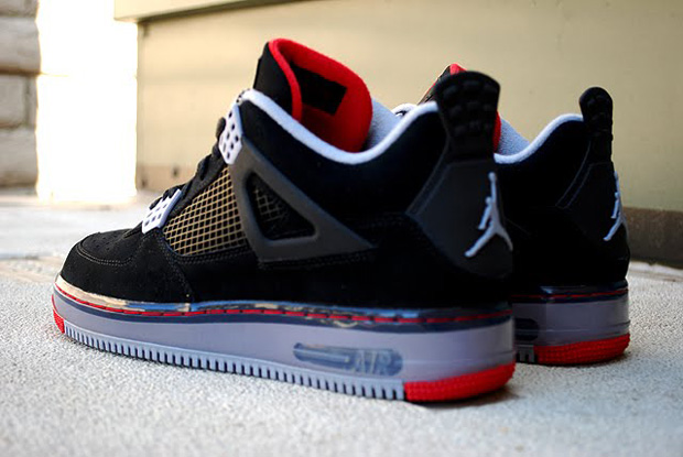 Air Jordan Force 4 (IV) Black/Red