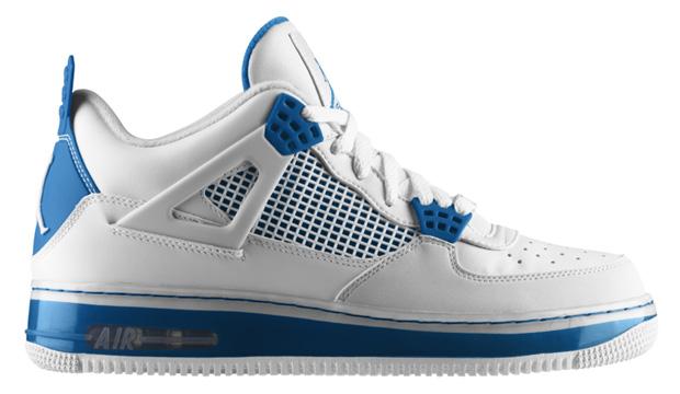 Air Jordan Fusion 4 Military Blue
