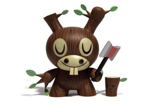 Amanda Visell x Kidrobot Wooden Donkey Dunny