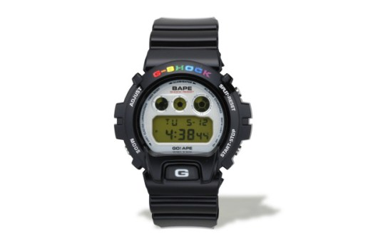 "A Bathing Ape x CASIO G-SHOCK DW-6900 ""Black Rainbow"""