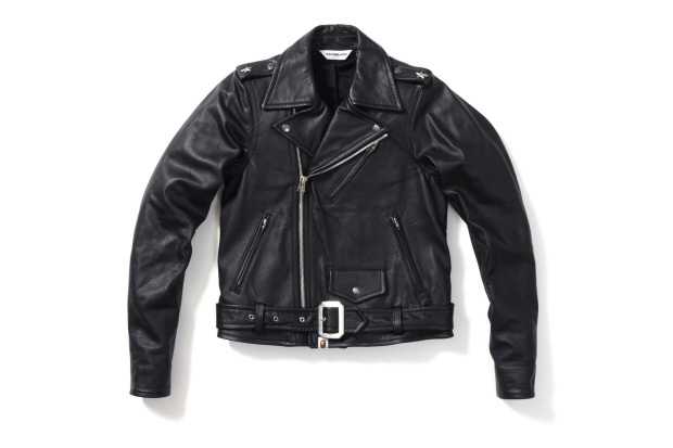 A Bathing Ape Leather Riders Jacket
