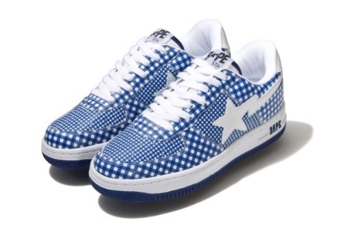 A Bathing Ape Check Print Bapesta