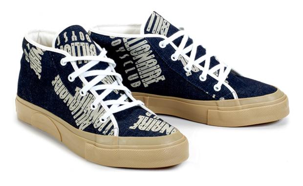 Billionaire Boys Club Straight Logo Pattern Chukka Sneakers
