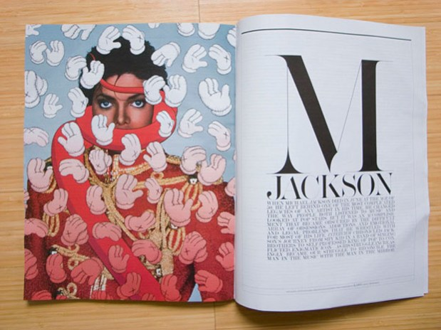 KAWS x Michael Jackson Cover for Interview Magazine